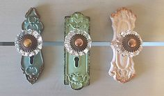 French Country Chic Cupboard Drawer Knob Handle Shabby Crystal Replacement