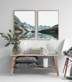 Mountain Lake Print,Modern Wall Art,Landscape Set Print,Mountain Set Print,Printable Wall Art,Nature