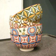 Bol en céramique (par 4) Sunshine Chehoma