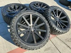 Tires are Haida Much Champ M/T as seen in the pictures. Black Rims, Black Wheels, Lifted Chevy Trucks, Pickup Trucks, Chevy Avalanche, Wheel And Tire Packages, Wheels And Tires, Truck Accessories, Truck Parts