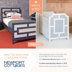 WIN a Bed or Crib from Newport Cottages! #giveaway