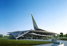 Automobile Museum at Nanjing - building  dedicated to the automobile