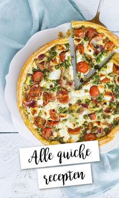ALLE QUICHE RECEPTEN OP EEN RIJTJE! Quiche Recipes, Soup Recipes, Healthy Recipes, Italian Dinner Recipes, Brunch Casserole, Healthy Brunch, Oven Dishes, Brunch Dishes, Happy Foods
