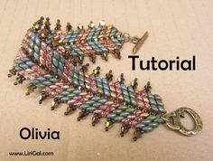 Olivia Superduo Twin   Beadwork Bracelet PDF Tutorial di Lirigal