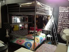 Ikea Tromso loft bed, turn a twin underneath into a seating area