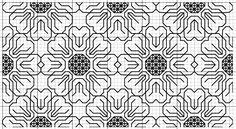 Blackwork Flower (Fill) Pattern