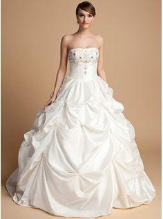 Brautkleider - $217.99 - Duchesse-Linie Herzausschnitt Bodenlang Taft Brautkleid mit Perlen verziert  http://www.dressfirst.com/de/Duchesse-Linie-Herzausschnitt-Bodenlang-Taft-Brautkleid-Mit-Perlen-Verziert-002014716-g14716