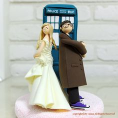 Doctor who wedding cake topper decoration gift by annacrafts