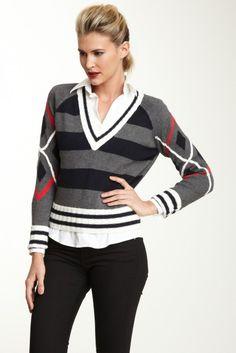 L.A.M.B. Crop Argyle Sweater