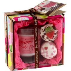 Bomb Cosmetics Geranium & Red Poppy Gift Box - BEST SELLER ONLY £13.99 inc p! #valentines gift #mothers day gift #bomb cosmetics