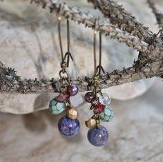 Les boucles d'oreilles Crazy Lace Agate pourpres par ColorMeEarthJewelry sur Etsy https://www.etsy.com/fr/listing/254066734/les-boucles-doreilles-crazy-lace-agate