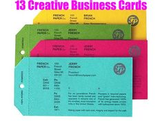 Creative Business Cards   Make a great first impression with creative business cards!