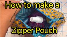 How to make a beginner zipper pouch on a sewing machine. Sue's zipper pouch is fully lined, easy zipper, and whips up quickly with professional results.