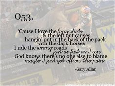 get off on the pain, one of the best gary allan songs.