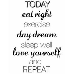 Godmorgon! Dagens citat ifrån @ninadraken76  #torsdag #today #daydream #exercise #love #eat #repeat #sportkost