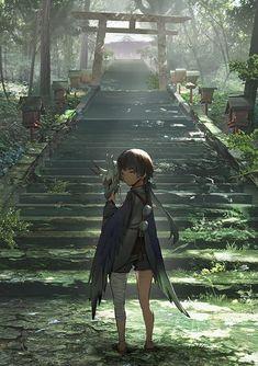 Otaku Fan Art Get Anime Memes, Read Manga Online, Cosplay, Comics and more. Art Manga, Anime Art Girl, Manga Girl, Manga Anime, Aesthetic Art, Aesthetic Anime, Fantasy Landscape, Fantasy Art, Japon Illustration