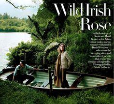 WILD IRISH ROSE -VOGUE US photographed by Annie Leibovitz