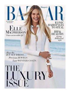 Harper's Bazaar Australia June July 2015 Elle Macpherson