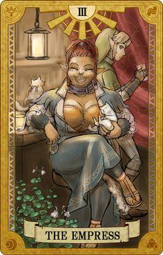 The Empress, Legend of Zelda, Tarot artwork by 空谷 (Kuukoku)