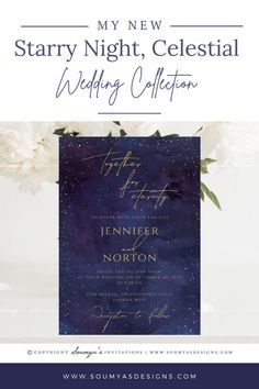 Check out my art blog for my new Celestial Wedding, Purple and Gold Wedding Invitations collection www.soumyasdesigns.com/blog #wedding #weddinginspiration #weddinginvitations