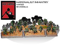 Nationalist Infantry 18 Models | ACPGames