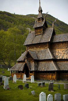 Borgund Stave Church in Lærdal Valley, Norway