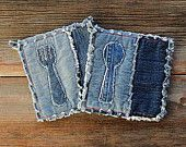 Hot Coffee Potholders - Blue Jeans Pot Holders - The Best Potholders Ever
