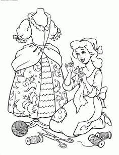 coloriage cendrilloncoloriage princesse disney cendrillon