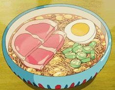 hayao miyazaki anime Ponyo food japan japanese kawaii recipe recipes studio ghibli miyazaki anime food lunch ramen japanese food ham kawaii food Miso Ramen ramen recipe