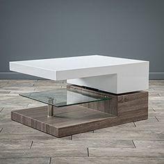 Modern Wood Glass Coffee Table