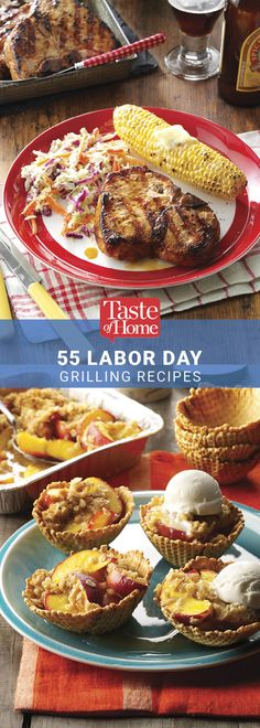 labor day desserts 60 Grilled Recipes to Try This Labor Day 55 Labor Day Grilling Recipes from Taste of Home 60 Grilled Recipes to Try This Labor Barbecue Recipes, Grilling Recipes, Cooking Recipes, Bbq Desserts, Dessert Recipes, Summer Recipes, Holiday Recipes, Peach Pie Recipes, Cookout Food