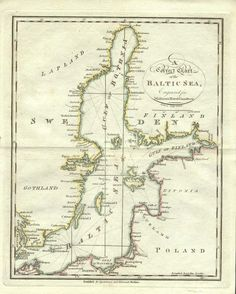 A Correct Chart of the Baltic Sea  1804