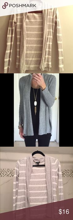 Express Open Front Striped Cardigan Lightweight, great for layering in the winter or with a cami in Spring or Summer! Perfect condition. Second pic shows same style, different color. Express Sweaters Cardigans