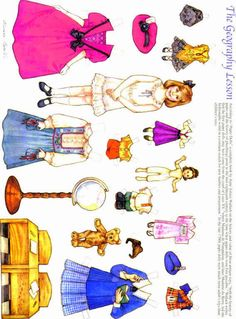 Old-Fashioned Girls Paper Dolls