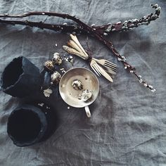 SnapWidget | In progress... Styling my fresh burned black #cuppa ceramics...