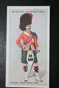 The Royal Highlanders Black Watch Original 1912 Vintage Card