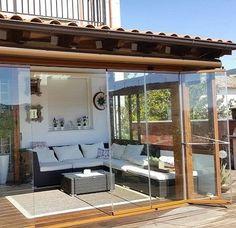 Cerramientos de porche con cristal sin perfiles - Toldos para patios precios ...
