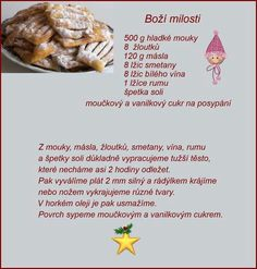 Božie milosti Christmas Baking, Christmas Cookies, Czech Recipes, Ethnic Recipes, Czech Desserts, Ciabatta, Easter Recipes, Baking Recipes, Ale