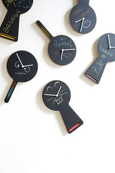 Cute chalkboard clocks by Diamantini & Domeniconi