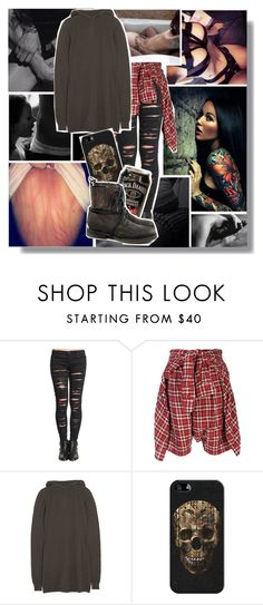 """What are you trying hide under all that clothes???"" by isabeldizova ❤ liked on Polyvore featuring BLANKNYC, R13, Rick Owens, Casetify, V AVE SHOE REPAIR, StreetStyle and army"
