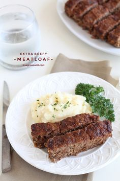 This easy meatloaf recipe is extra beefy with the addition of one delicious secret ingredient! Find out how to make the best meatloaf you have ever eaten!