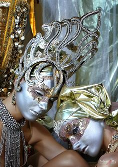 Thai Gold III von DuEngel-ART, Gold and Silver face painting, body art, costume,