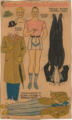 A MAN FROM THE JANE ARDEN PAPER DOLL SERIES