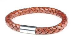 """Suki PRO Braided Leather Magnet Therapy Bracelet - 8mm (5/16"""") Light Brown with Magnetic Clasp by SUKI PRO, http://www.amazon.com/dp/B0085RF55K/ref=cm_sw_r_pi_dp_lKwqsb05M35K7"""