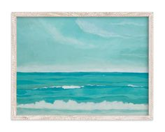 """""""Oceanscape"""" - Art Print by Mary McKenna in beautiful frame options and a variety of sizes."""
