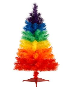 Color Burst Mini Rainbow Christmas Tree | Treetopia