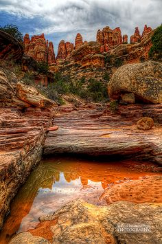 The Way to Druid Arch, Needles District, Canyonlands National Park, Utah