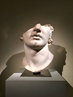 """""""Fragmentary Colossal Head of a Youth"""" (possibly Alexander), Greek, Hellenistic. exhibition at the Metropolitan Museum of Art. NYC. April 18 - July 17,2016. http://hadrian6.tumblr.com"""