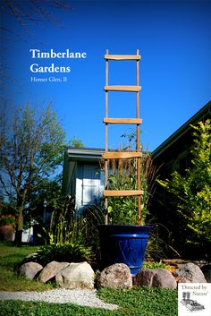 Tall cedar garden trellis. Timeless style, fine craftsmanship and practical design. Affordable hand-crafted raised garden beds, planters and garden décor from Timberlane Gardens.