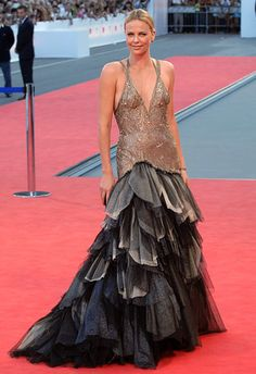 Charlize Therons 10 Most Stunning Red Carpet Moments: Ravishing Ruffles